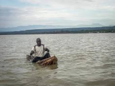 Fischer auf dem Lake Baringo