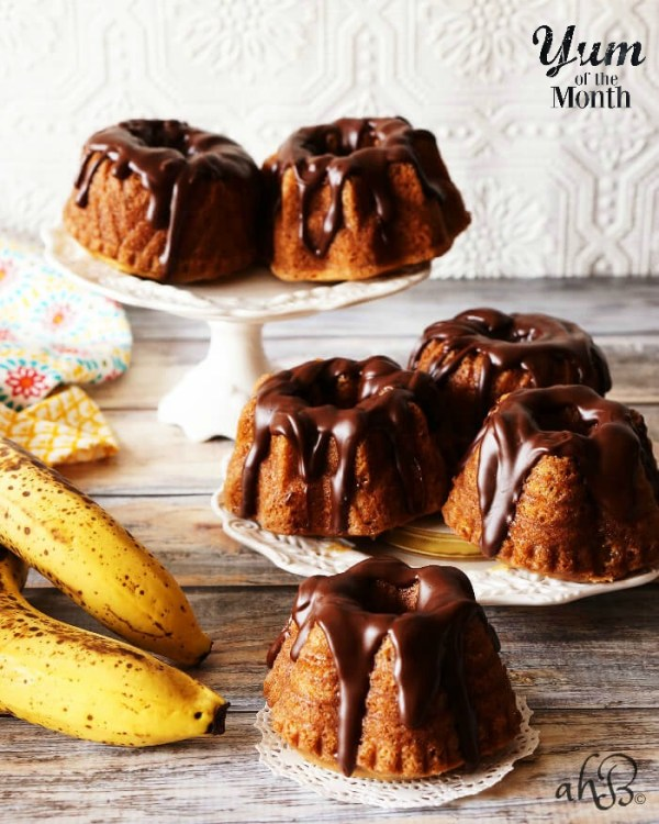 Mini Banana Bundt Cakes from Accidental Happy Baker