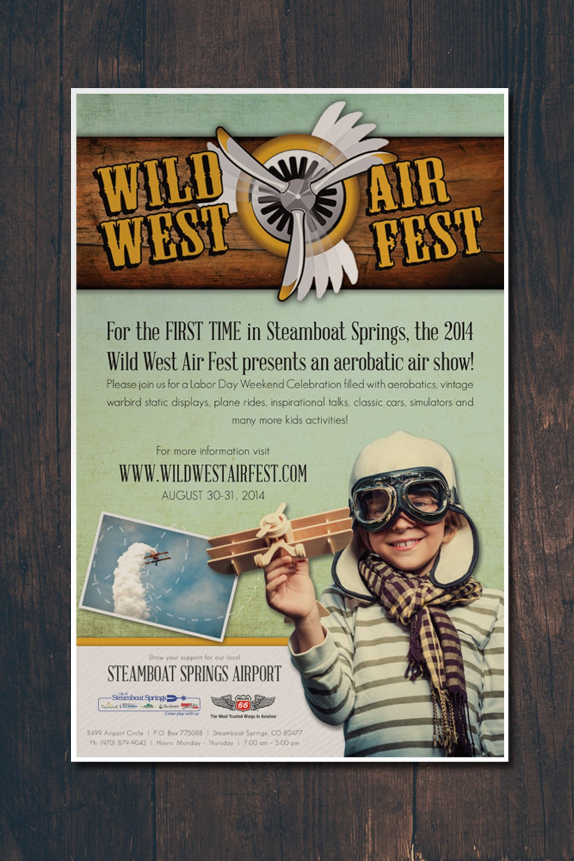 Wild West Air Fest Poster