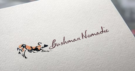 Bushman Nomadic Logo on textured paper