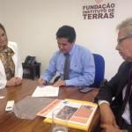 Com Diretor da ITESP e prefeita de Itapetininga