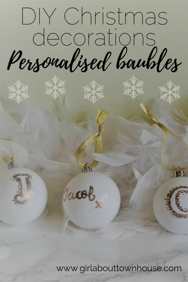 Personalised Christmas Bauble - Girl about townhouse