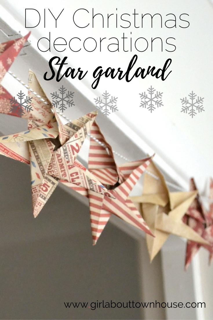 Diy Origami Star Garland Christmas Craft Week Girl