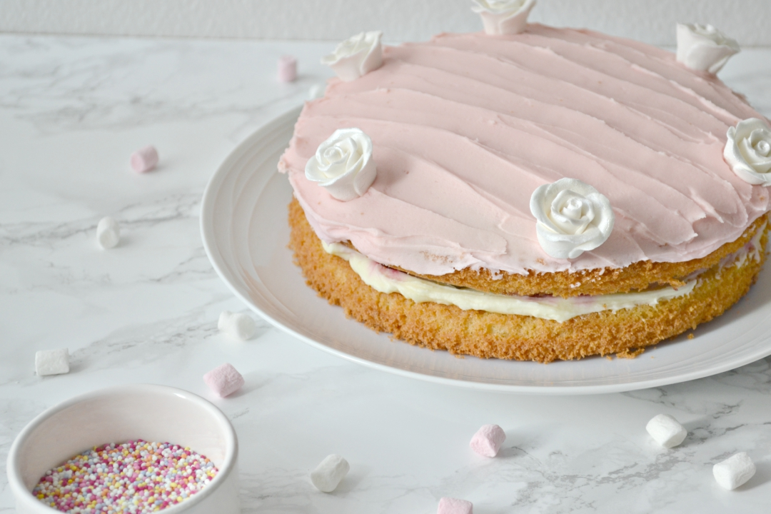 Cherry Almond Victoria Sponge Cake - Girl about townhouse