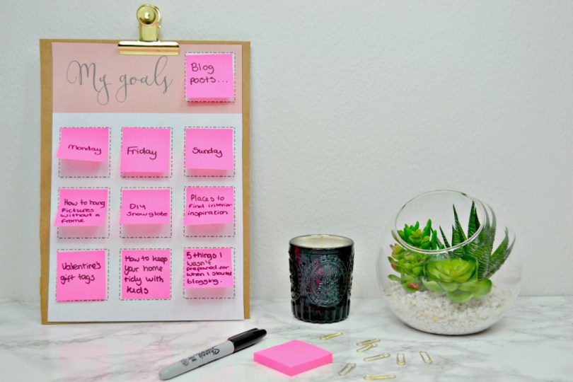 Goal setting worksheet - Girl about townhouse