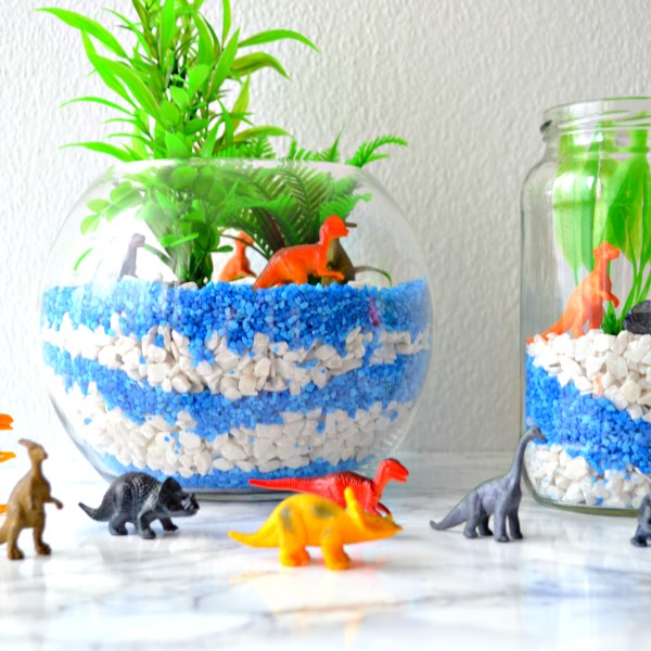 Dinosaur Craft: DIY Terrarium tutorial - Girl about townhouse