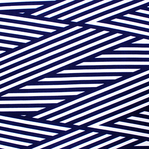 Royal Blue Nautical Flag Ponte de Roma Fabric