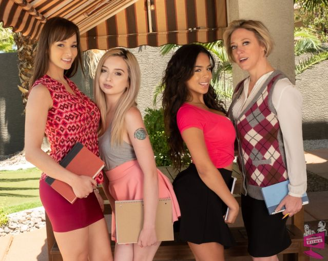 Cast of Lesbian Tutors 6 Girlfriends Films