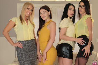 Cast of Lesbian House Hunters 19 Girlfriends Films