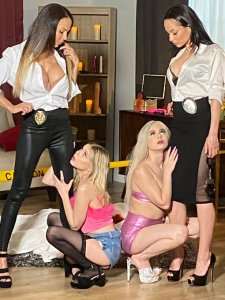 Behind the Scenes Lesbian Crime Stories 5