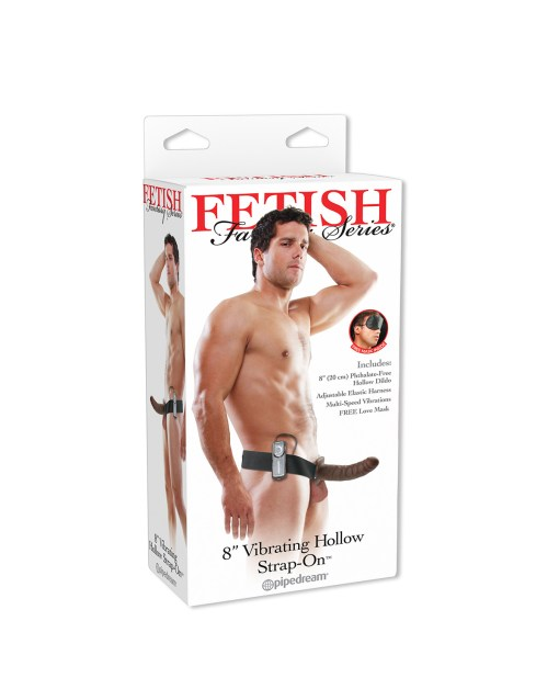 Fetish Fantasy Vibrating 8-Inch Hollow Strap-on