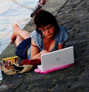 Girl Geek with a Mac - Foto di beatfactor