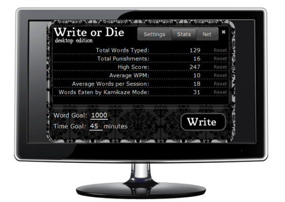 "Write or Die Putting the ""Prod"" in Productivity"