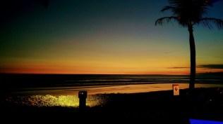 Bali Honeymoon W Hotel sunset on beach