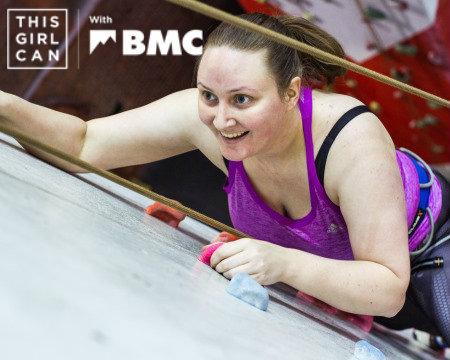 This Girl Can Climb Claire BMC promo tweet