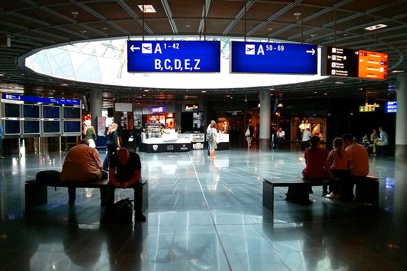 Flight transfers at Frankfurt Airport in Frankfurt, Germany
