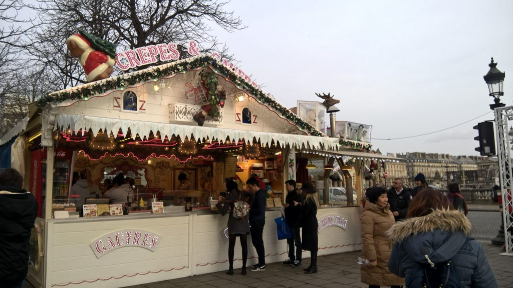 Champs Elysees Arc De Triomphe, Paris Christmas Market