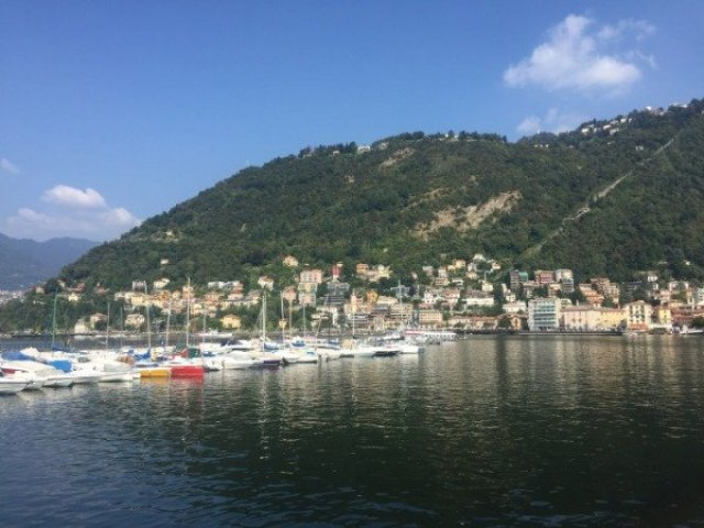 The view from Diga Foranea Pier, Como