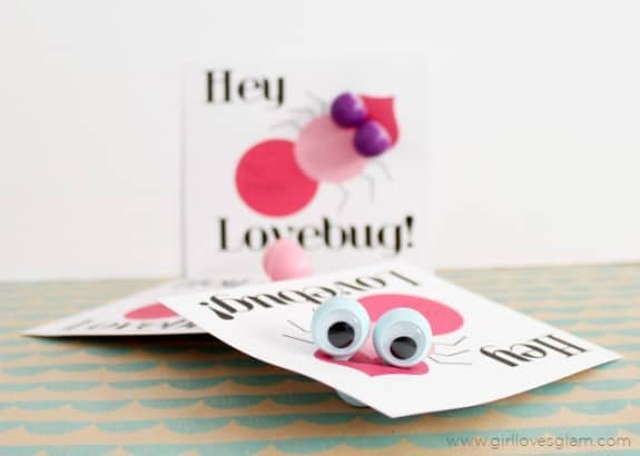 Lovebug Valentine Free Printable