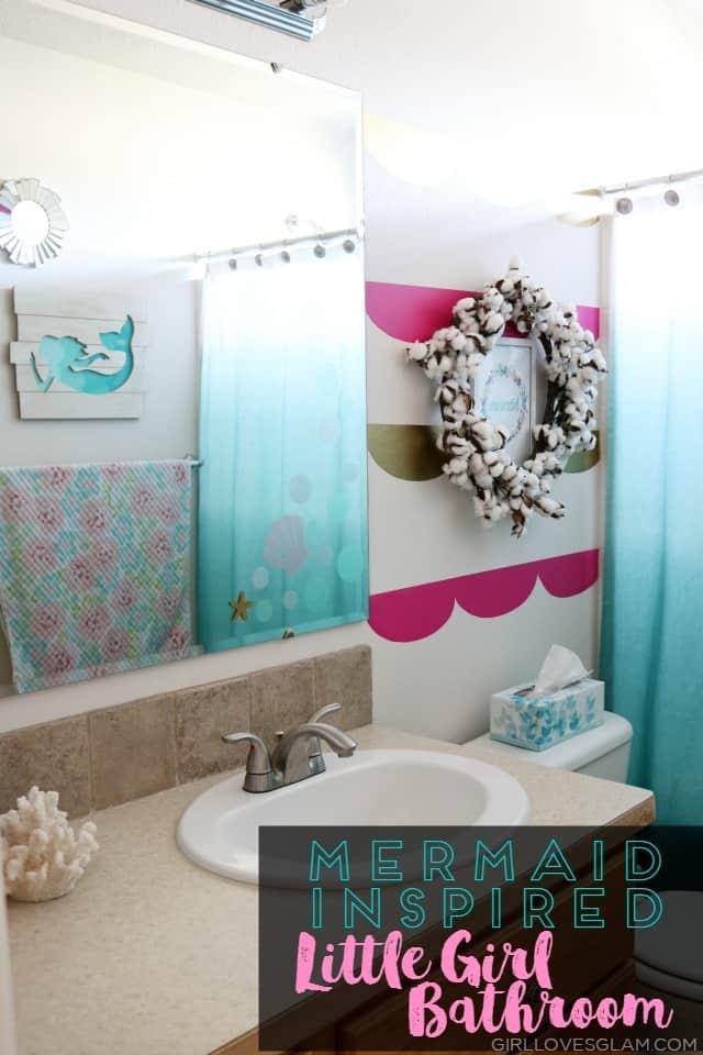 Mermaid Inspired Little Girl Bathroom - Girl Loves Glam on Bathroom Models  id=53418