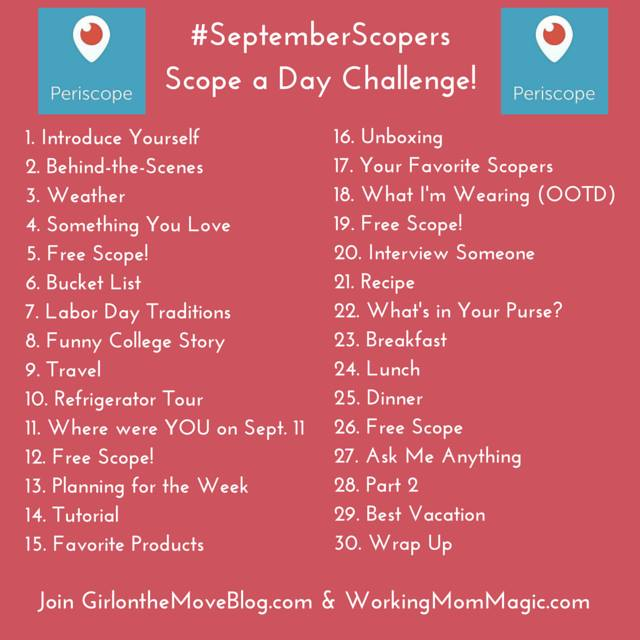 Join us on Periscope for #SeptemberScopers