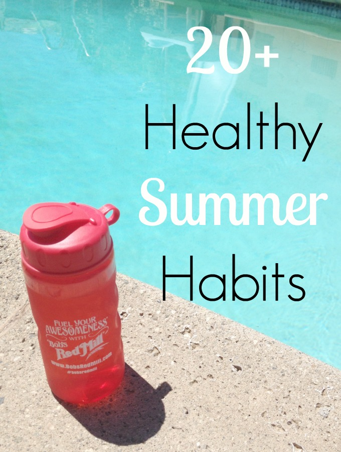 Daily healthy habits for women to lose weight and stay healthy during the summer months when it can be a challenge to stay healthy. These tips will help!