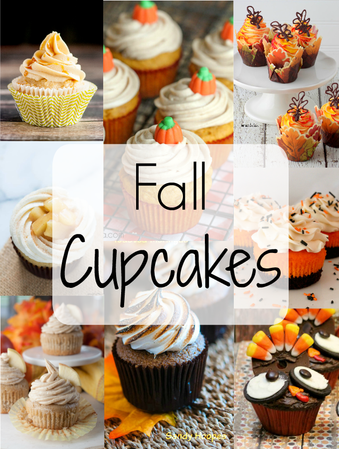 A roundup of Fall Cupcakes featuring all of your favorite flavors including apples and pumpkin. These recipes and ideas are sure to make your autumn sweet!