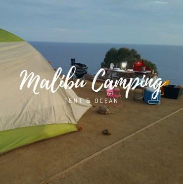 Malibu Camping, camping in malibu, tent camping in malibu, camping in malibu with a toddler, malibu beach rv park tent camping