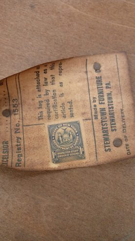 State of New York Department of Labor, Inspection Stamp Division of Bedding 1 cent