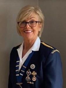 A photograph of Hazel Ensor, President of The Girls' Brigade Ireland