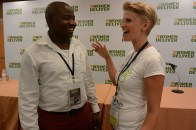 Remmy Shawa from Sonke Gender Justice Network with Julia Wiklander, Founder of Girls' Globe.
