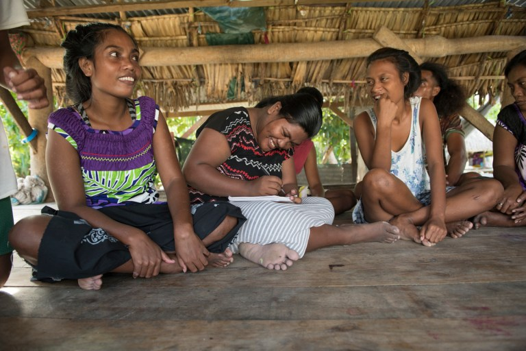Young People in Kiribati combating the climate crisis