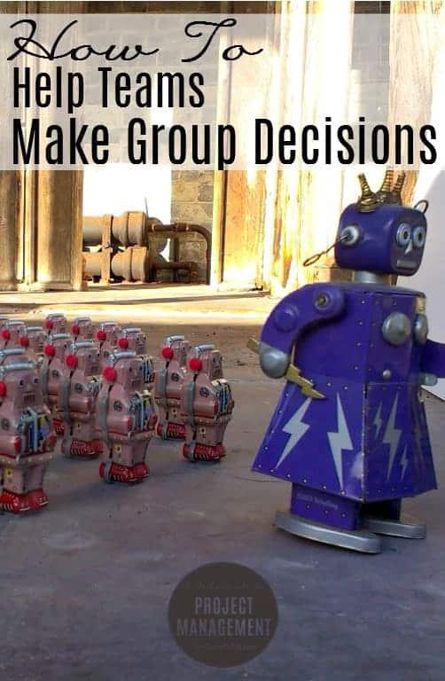 Cómo tomar decisiones como grupo