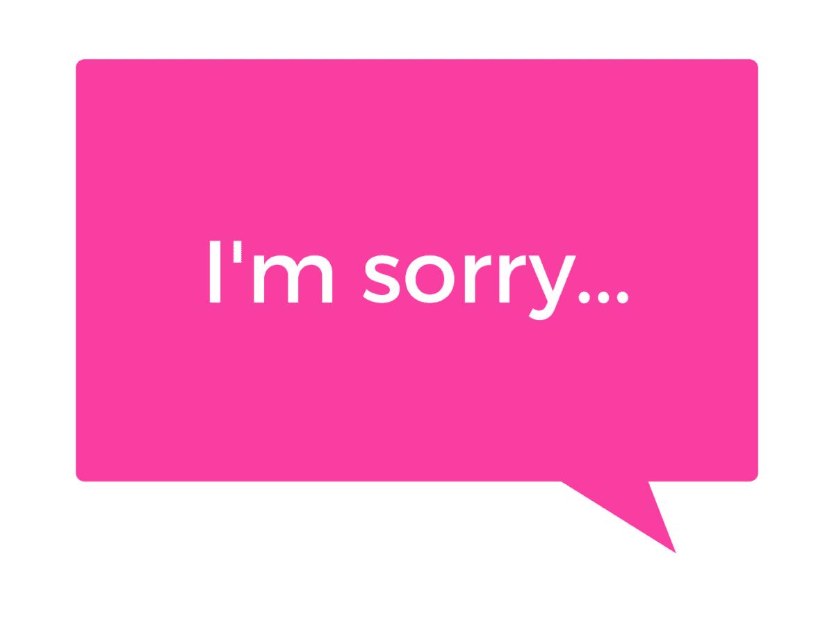 Lo siento