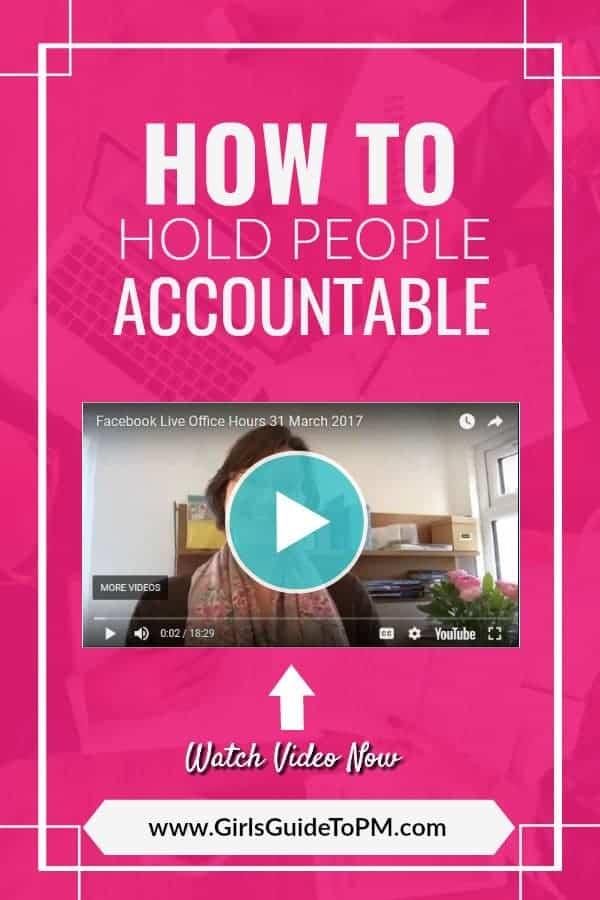 Cómo responsabilizar a la gente de la imagen pin