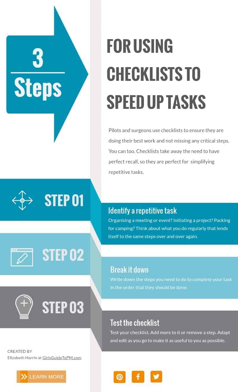 3 pasos para usar listas de verificación para acelerar las tareas
