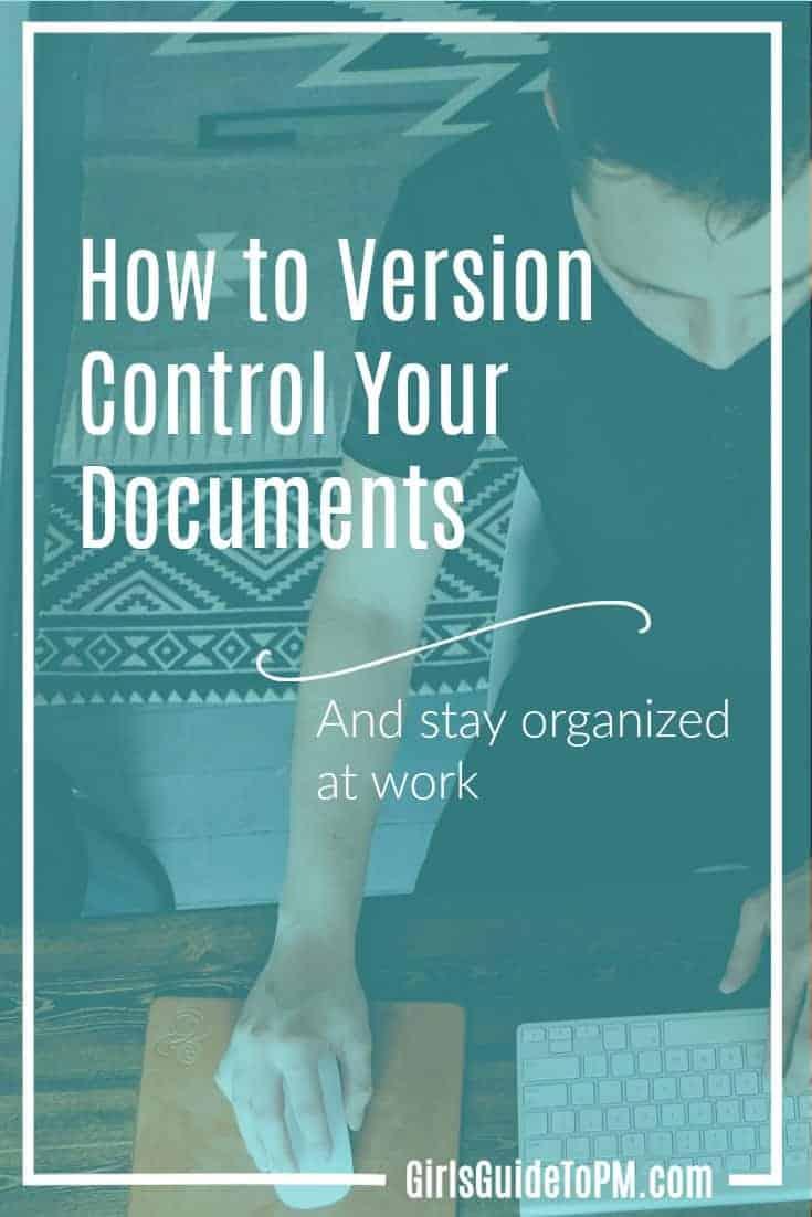 Cómo hacer el control de versión del documento