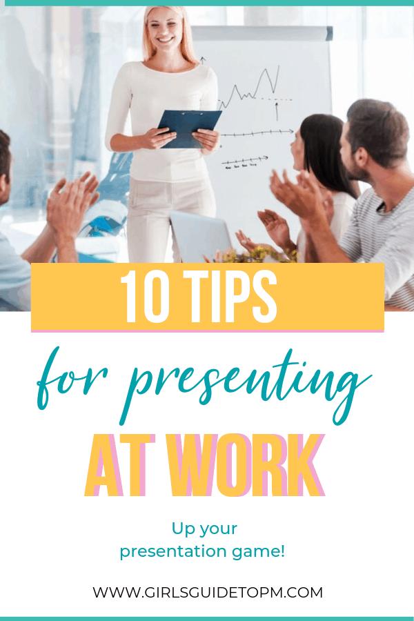 10 consejos para presentar en el trabajo