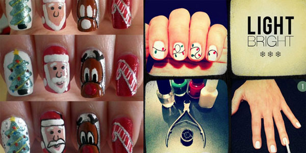 Best Easy Simple Christmas Nail Art Tutorials 2017 For S Shue