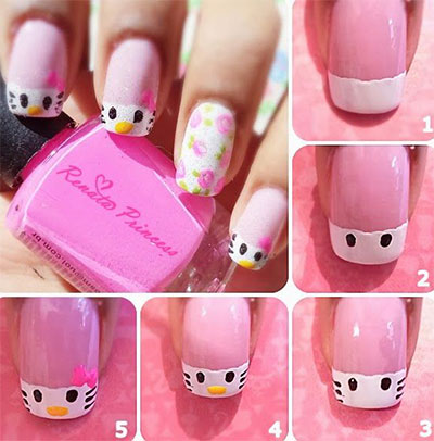 Step By Nail Art Designs 2017 Ideas Images Tutorial Flowers Pics Photos Wallpapers