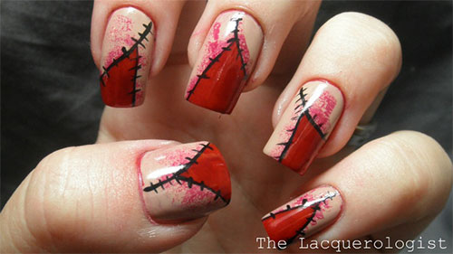 Scary Halloween Nail Art Designs Ideas Amp Stickers 2013