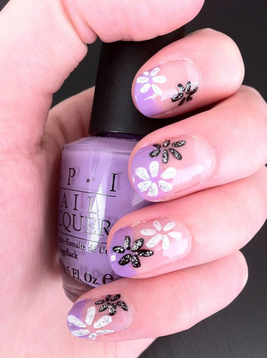 Spring Flowers Nail Art