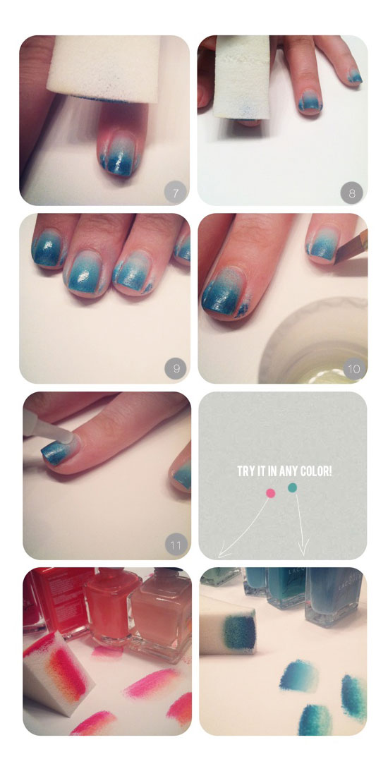Cool Faded Nails Tutorial