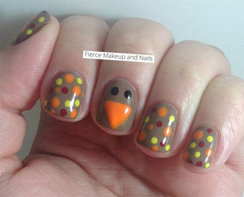 20 Thanksgiving Nail Art Designs Ideas 2016