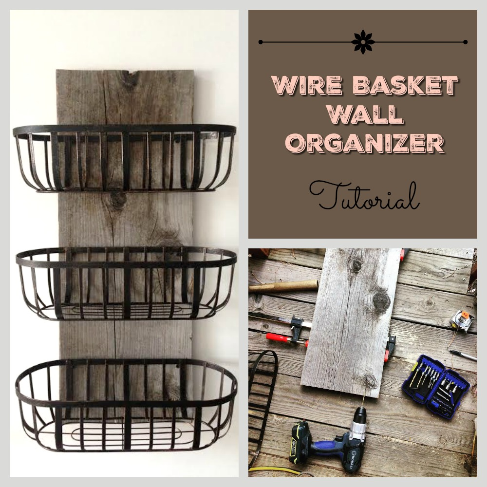 Diy Kitchen Decor Pinterest: Rustic Wire Basket Organizer DIY