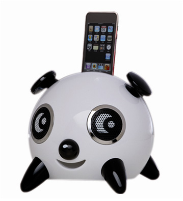 Amethyst iPanda iPod speakers