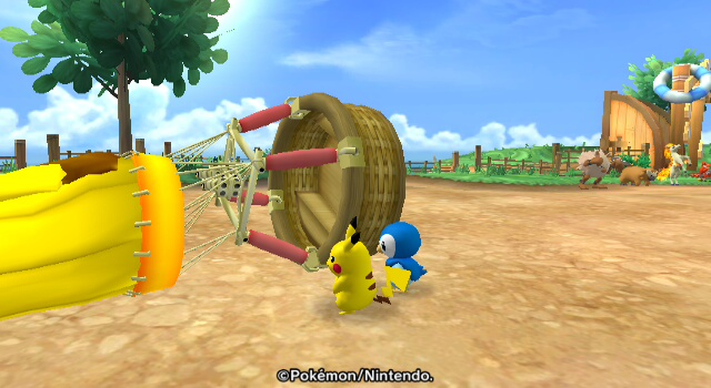 Pikachu and Piplup try to escape the cuteness of it all