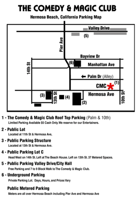 comedy-magic-club-hermosa-beach-parking-map-directions