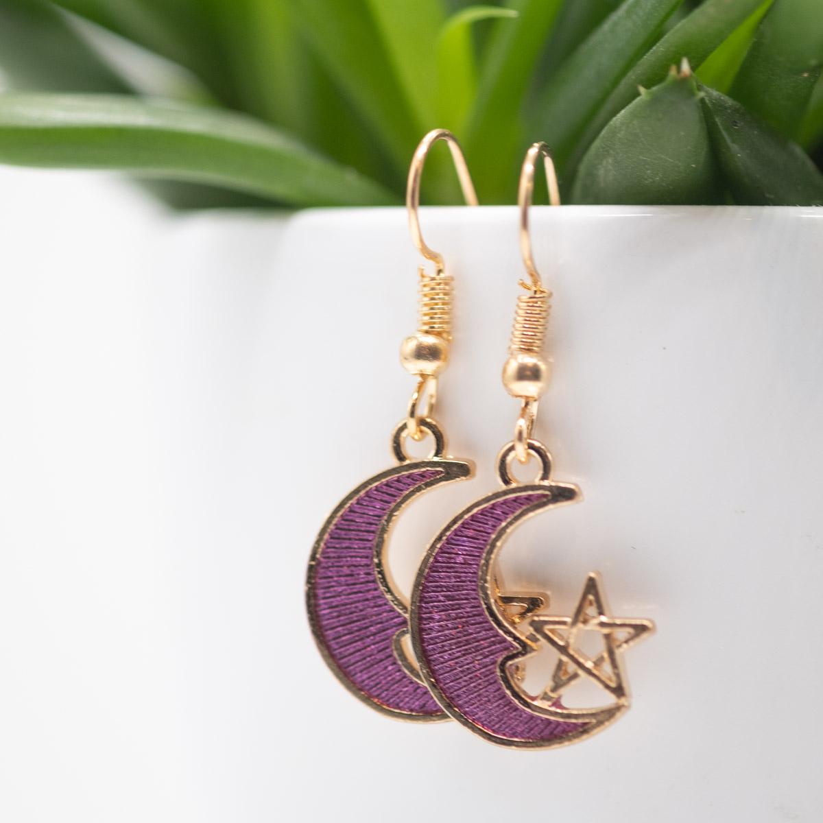 ORB-004 Selina oorbellen violet