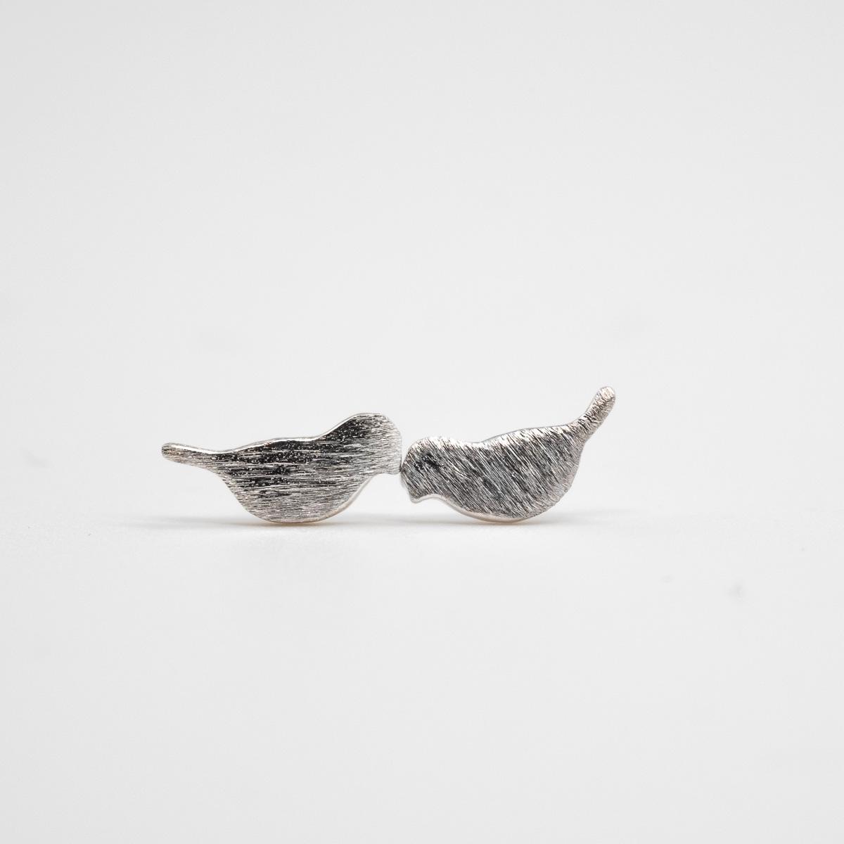 ORS-005 vogeltje oorstekers geborsteld metaal